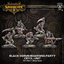 Cryx Black Ogren Boarding Party (1-leader, 4-grunts)